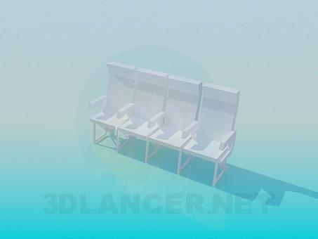 3d модель Скрепленные сидения – превью