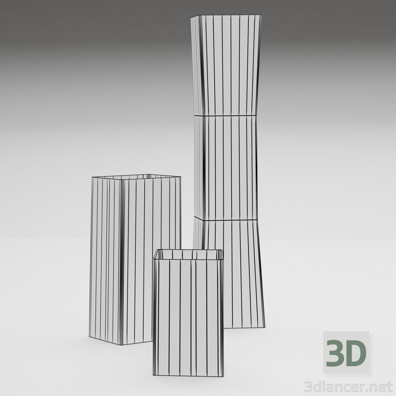 3d model Vase Ikea Rectangel - preview