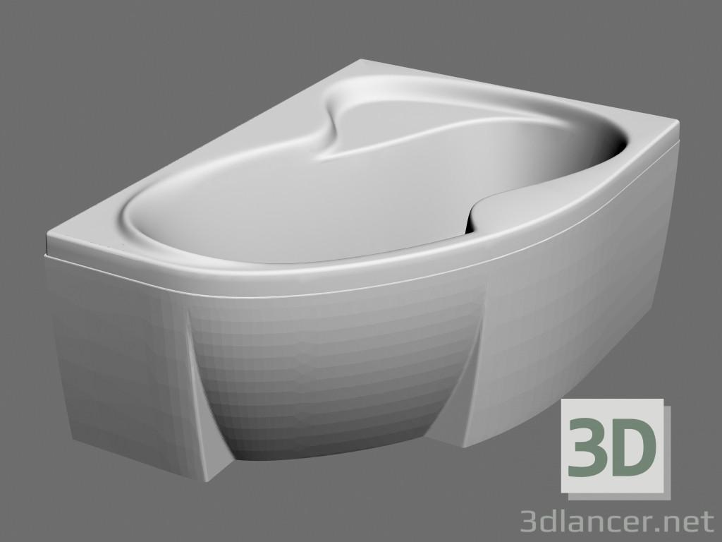 3d modella vasca da bagno asimmetrica rosa ii 150 r set dal