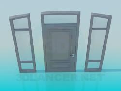 Porta con finestre laterali