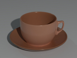 Coffee mug on a saucer