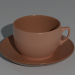 3d model Coffee mug on a saucer - preview