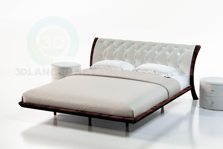 3d modeling Bed Sandalwood Suite model free download