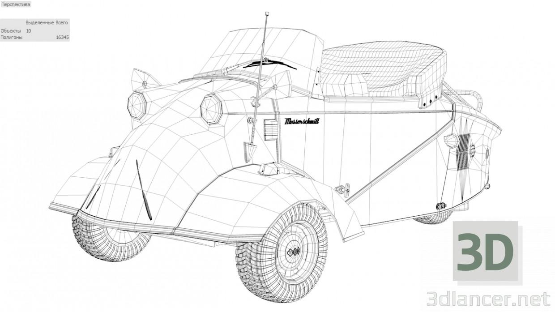 3d model Messerschmitt KR200 Car Roadster - preview