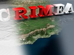 Modelo 3D da paisagem da Península da Criméia / Paisagem modelo 3D da Crimeia