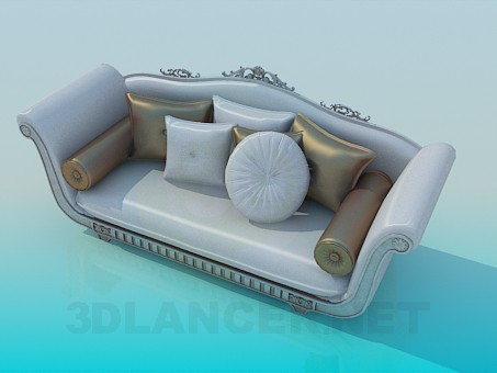3d model Sofa with Baroque elements - preview