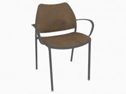 Chaise de bureau avec structure chromée (avec accoudoirs) (B)