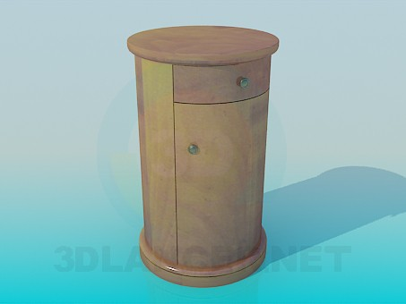 3d model The round cabinet - preview