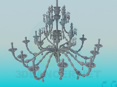 3d modeling A large chandelier for holiday accommodation model free download