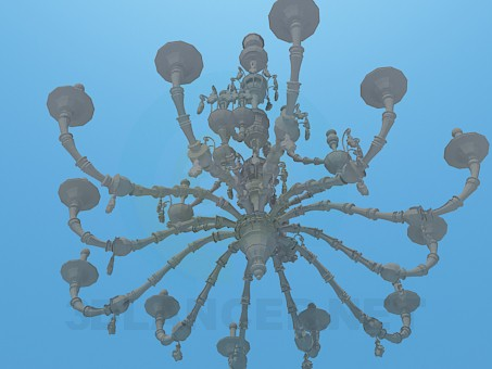 3d model A large chandelier for holiday accommodation - preview