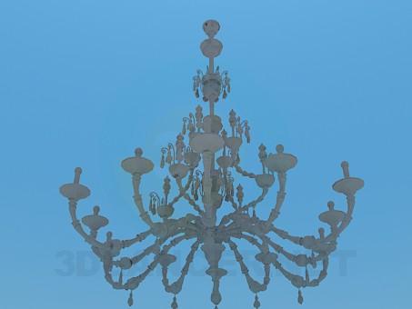 3d модель Большая люстра для праздничного помещения – превью