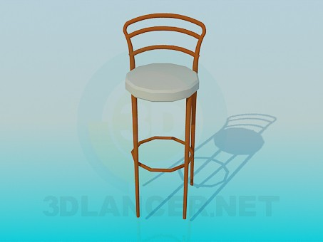 3d modeling Chair with high legs model free download