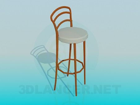 3d model Chair with high legs - preview