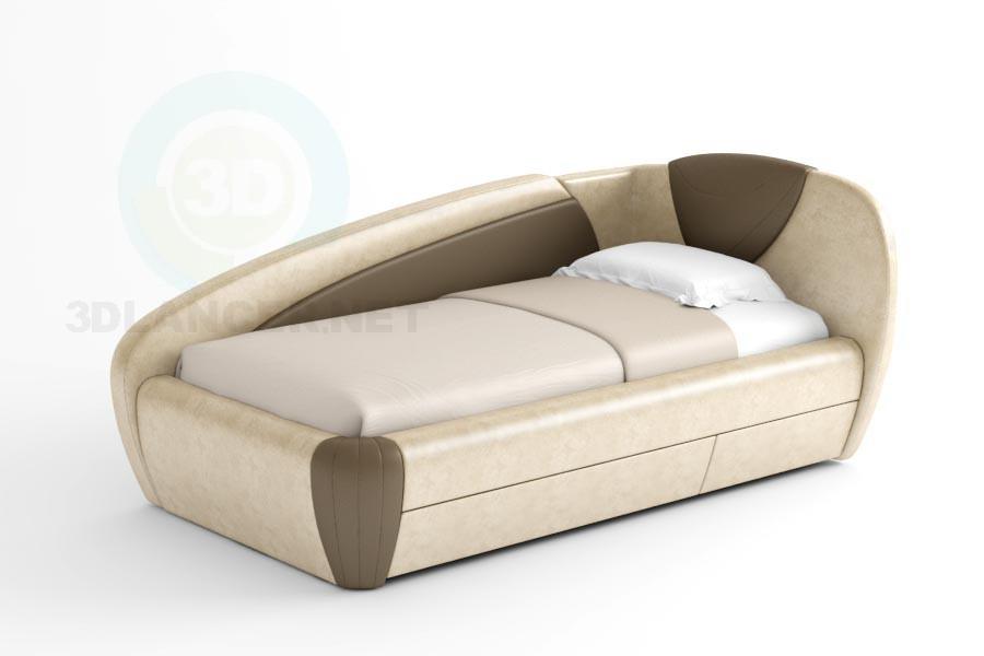 3d модель Ліжко Санта – превью