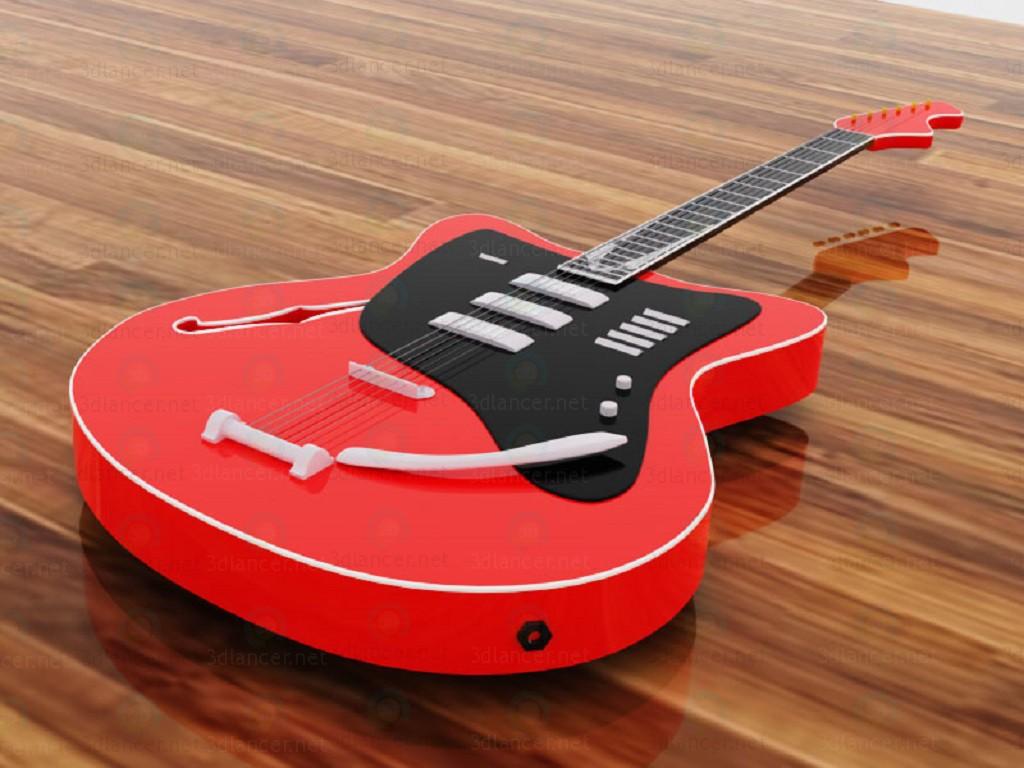 3 डी मॉडल गिटार - पूर्वावलोकन