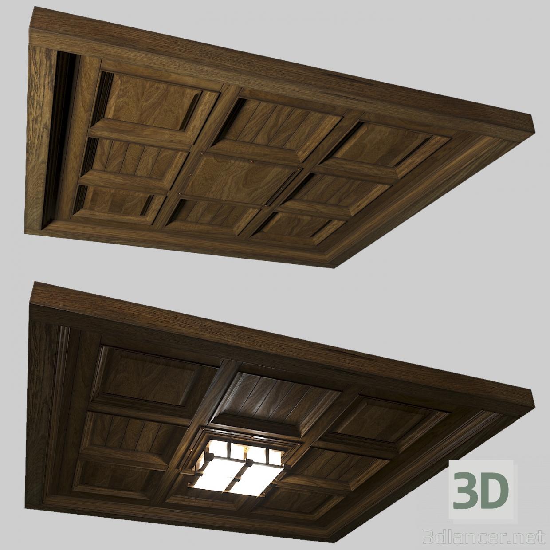 de techo 3D madera Modelo de Diseño oCtBrxshQd