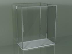 Box doccia 3 lati ZG + ZQ + ZF 180 con porta scorrevole centrale