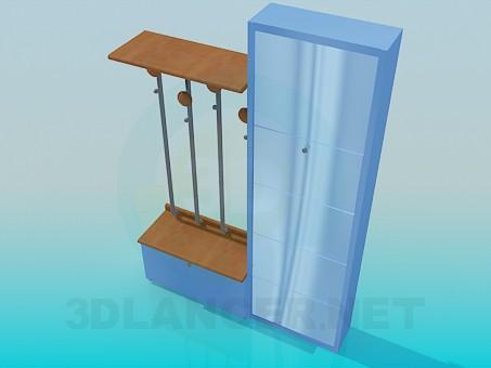modelo 3D Muebles para el pasillo - escuchar