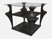 Tall coffee table on carved legs AIDA Z04