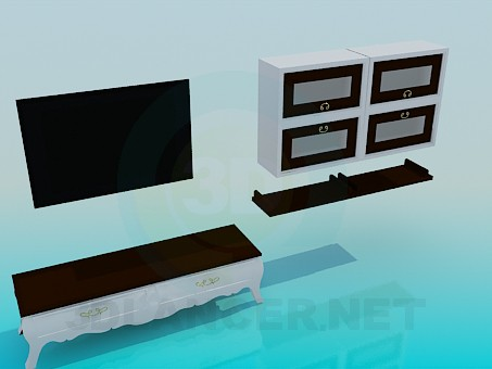 3d model Furniture in the living room - preview