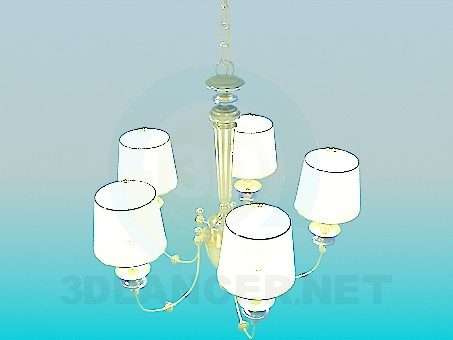3d model Gilded chandelier - preview