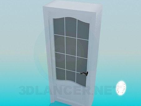 3d model Door with a deep doorway - preview