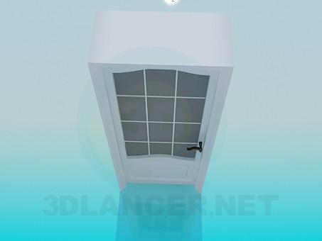3d model Door with a deep doorway - preview