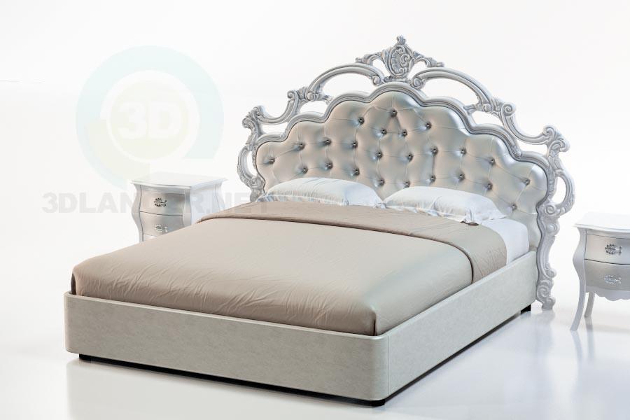 3d модель Кровать Сардиния – превью