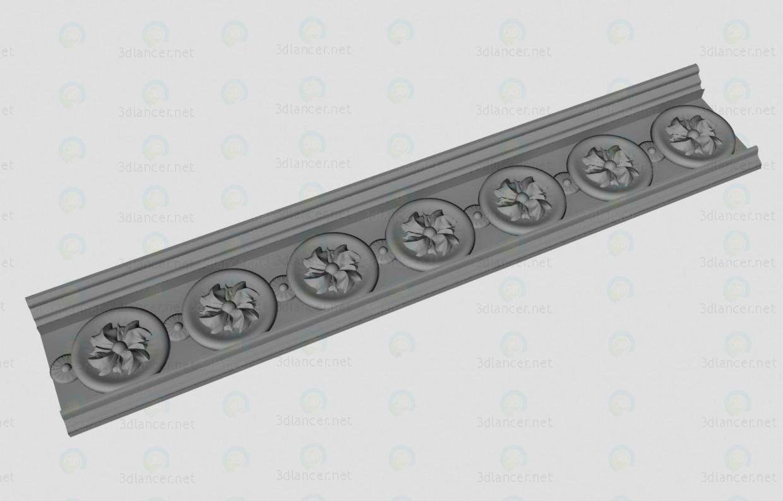 modelo 3D Decorativo de la cornisa - escuchar