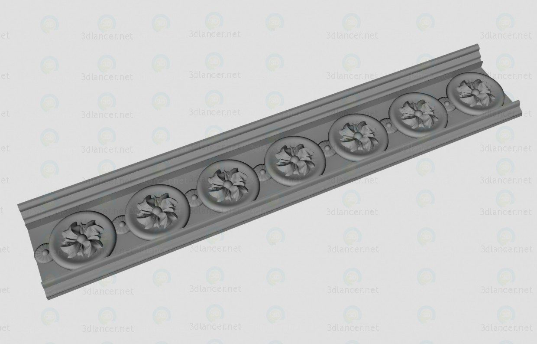3d modeling Decorative cornice model free download