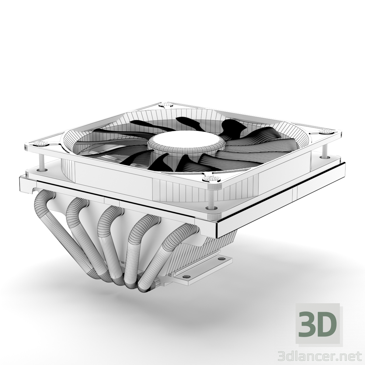 3d CoolerMaster GeminII M5 LED model buy - render
