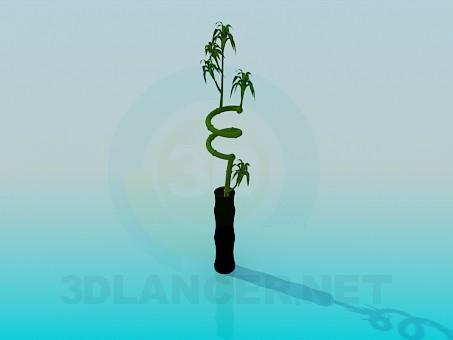 3d модель Пряма ваза для квітки – превью