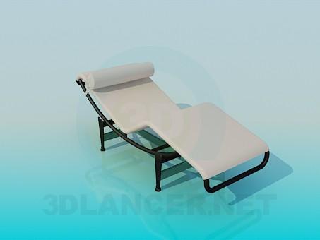 3d модель Лежак для отдыха – превью