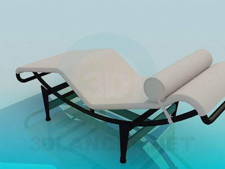3d model Sunbed to relax - preview