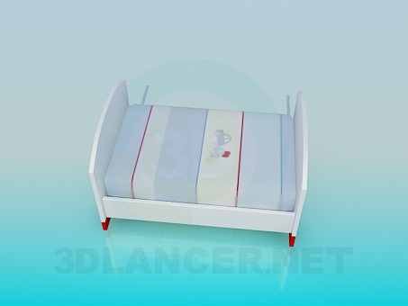 3d modeling Bed for a child model free download