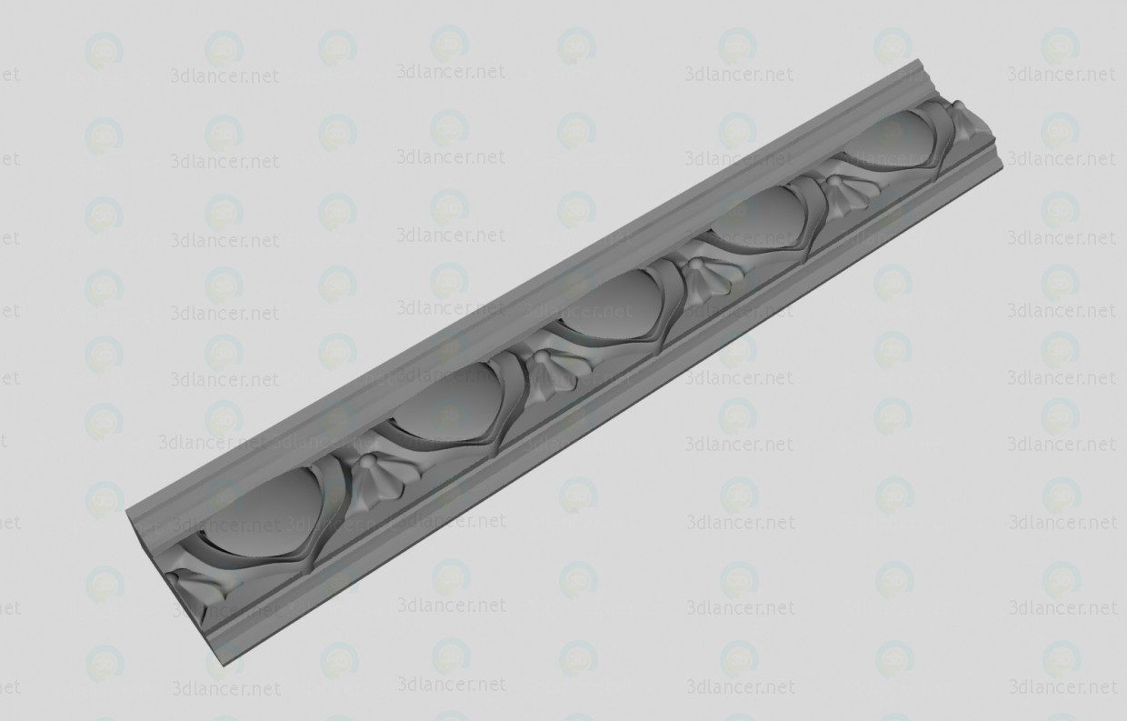 3d modeling Decorative cornice model free download