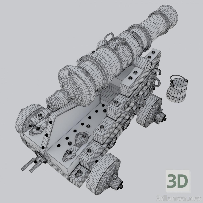 "3d Naval gun ""Unicorn"". Vessel cannon Unicorn model buy - render"