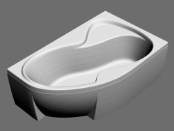 Asymmetric bath Rosa II-170 R set