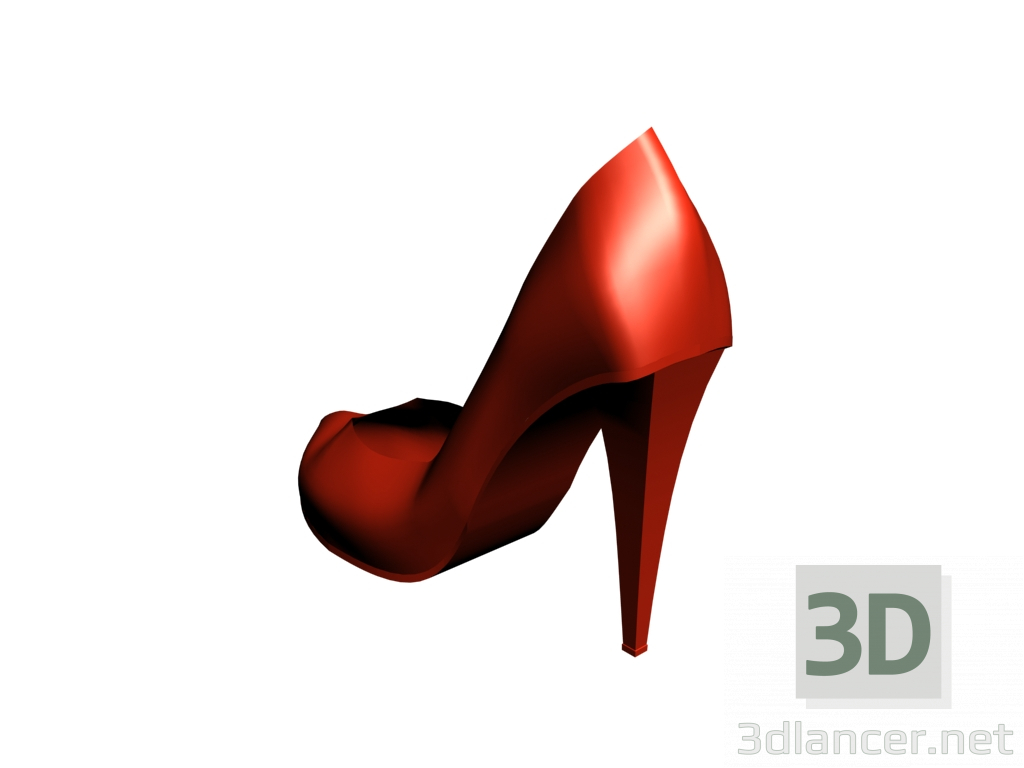 8a6866e2e9b270 3d Жіночі туфлі на каблуці в червоному кольорі. модель купити - зображення