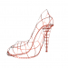 3d Female high-heeled shoes in red. model buy - render