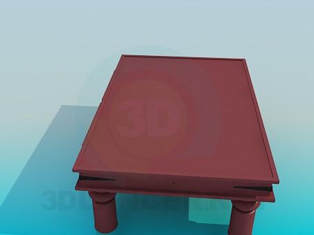 modelo 3D Mesa de centro con cajones - escuchar