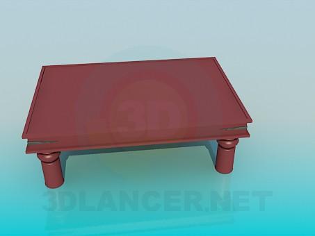 3d модель Журнальный столик с выдвижными ящиками – превью