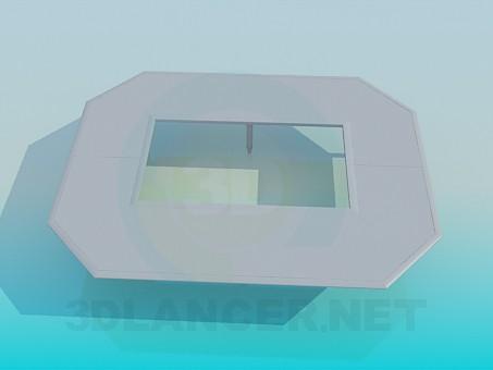 3d model Mesa con un agujero - vista previa