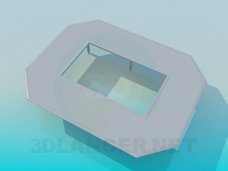3d модель Стол с отверстием – превью