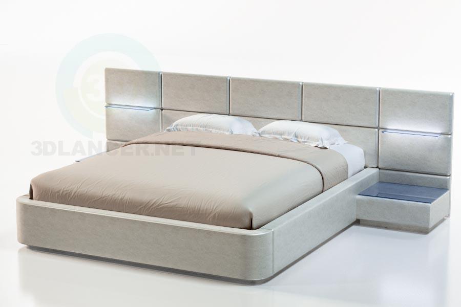 3d модель Кровать Сицилия – превью