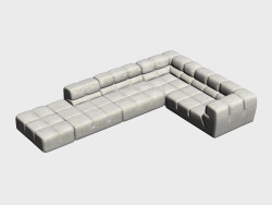 Sofa modular corner Tufty