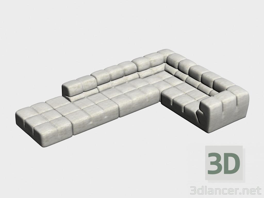 3d modella divano componibile ad angolo tufty dal produttore b&b