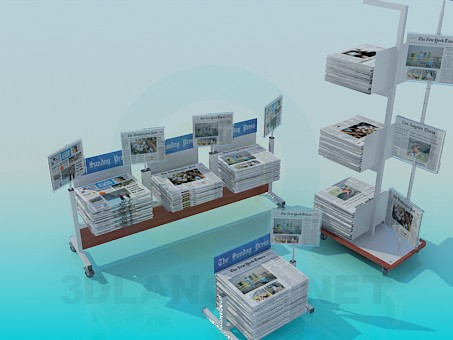 3d modeling Counters for newspapers model free download
