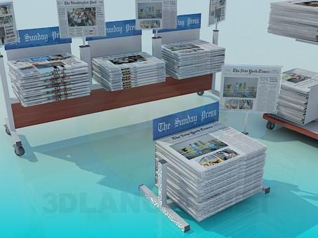 3d модель Прилавки для газет – превью