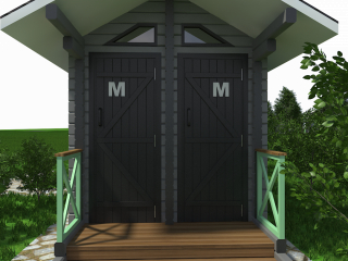 आउटडोर शौचालय